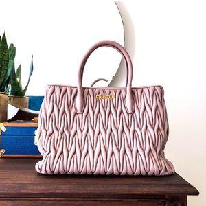 Miu Miu Matelasse Handbag, Pink